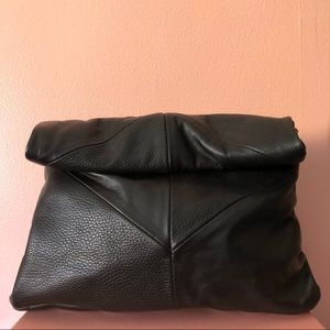 Zara Black Paperbag Roll Clutch